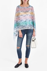 Missoni Women S Pastel Space Dye Poncho Boutique1 Multi