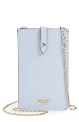 Kate Spade New York Leather Iphone Crossbody Bag Purple Morning Dawn