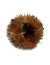 Adrienne Landau Silver Fox Fur Headband Tan
