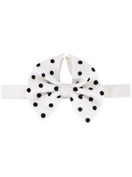 Jupe By Jackie Dots Print Bow Tie White