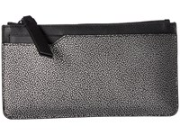 Ecco Iola Long Travel Wallet Black Silver Wallet Handbags