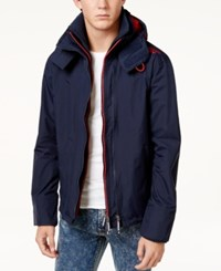 Superdry Men's Pop Zip Windcheater Jacket Navy