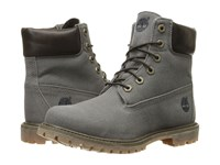 Timberland 6 Premium Boot Dark Olive Waxed Canvas Women's Lace Up Boots Gray