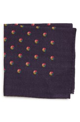 Bonobos Dot Wool Pocket Square Dot Kings Purple
