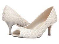 Paradox London Pink Emotion Ivory Lace Satin Women's Shoes White