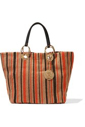 See By Chloe Summer Striped Jute Tote Beige