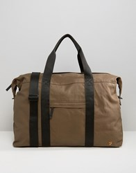 Farah Canvas Holdall Stone Green