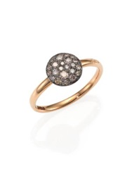 Pomellato Sabbia Brown Diamond And 18K Rose Gold Small Ring