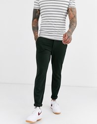 Only And Sons Slim Tapered Fit Trousers In Dark Green