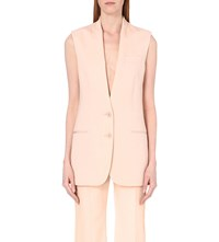 Stella Mccartney Single Breasted Wool Gilet Rose