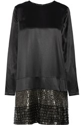 Belstaff Campden Sequin And Stud Embellished Silk Dress Black