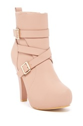 Top Guy Polish High Heel Bootie Beige