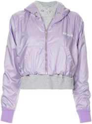 Natasha Zinko Hooded Bomber Jacket Purple