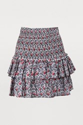 Etoile Isabel Marant Naomi Cotton Skirt Blue