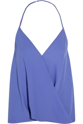 T Bags Draped Crepe Top Blue