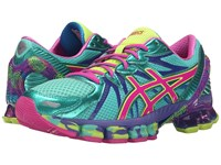 Asics Gel Sendai 3 Aqua Mint Pink Glow Electric Blue Women's Running Shoes Green