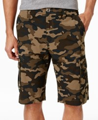 Ocean Current Men's Peached Cargo Shorts Military Camo