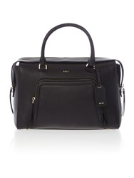 Dkny Chelsea Vintage Large Black Pocket Satchel Bag Black