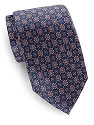 Burma Bibas Medallion Silk Tie Purple