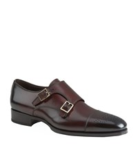 Tom Ford Austin Leather Double Monk Strap Shoe Male