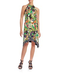 Trina Turk Michalin Halter Dress Multi