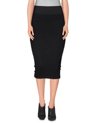 Eleven Paris Knee Length Skirts Black
