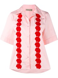 Jour Ne Shell Embroidered Shirt Pink And Purple