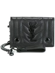 Saint Laurent 'Monogram' Chain Wallet Black