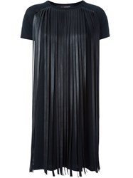 Neil Barrett Fringed T Shirt Dress Black