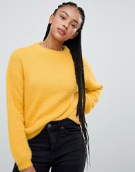 Bershka Organic Central Seam Jumper Yellow