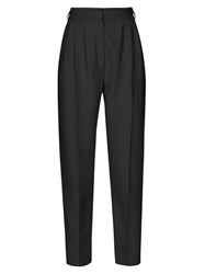 Alexander Mcqueen High Rise Straight Leg Trousers Black