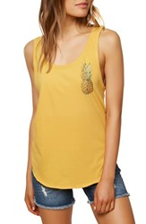 O'neill Halfsies Graphic Tank Top Goldie