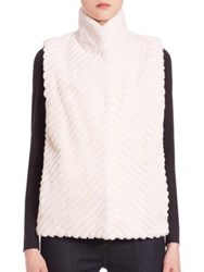 The Fur Salon Reversible Vest White