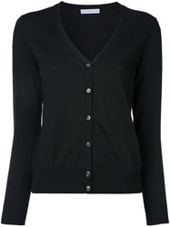Estnation V Neck Cardigan Black