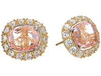 Vivienne Westwood Electra Stud Earrings White Cubic Zirconia Pink Earring Multi