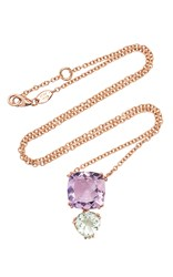 Alasia Anemoni Amethyst And Green Garnet Necklace Purple