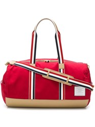 Thom Browne Leather Base Gym Bag Red