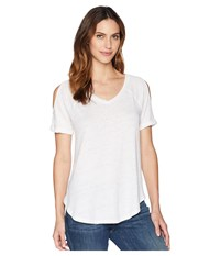 Mod O Doc Linen Jersey Cold Shoulder Raglan Tee White T Shirt