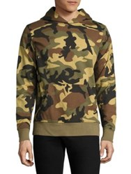 Wesc Mike Camo Print French Terry Hooded Sweatshirt Burnt Olive