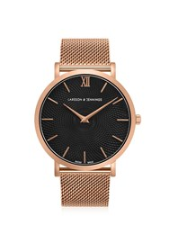 Larsson And Jennings Lugano Sloane 40Mm Rose Gold Black Watch