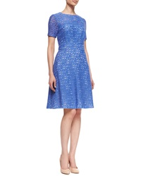 Kay Unger New York Lace Fit And Flare Dress