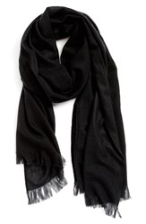 Women's Nordstrom Heathered Cashmere Gauze Scarf Black