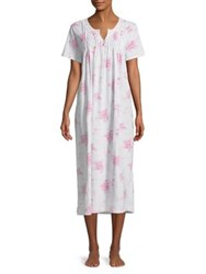 Carole Hochman Floral Cotton Nightgown Pink Floral