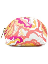 Emilio Pucci Abstract Print Makeup Bag Multicolour