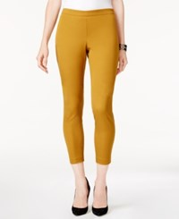 Alfani Petite Pull On Cropped Skinny Pants Created For Macy's Tawny Gold