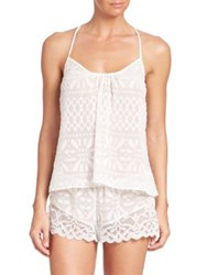 In Bloom Fatima Clipped Chiffon Camisole And Shorts Ivory