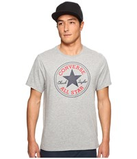 Converse Core Chuck Patch Tee Vintage Grey Heather Men's T Shirt Gray