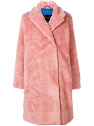 Stine Goya Faux Shearling Coat Pink