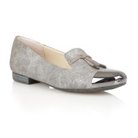 Lotus Crest Flat Shoes Pewter