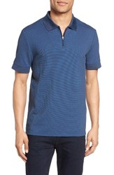 Vince Camuto Men's Slim Fit Mesh Polo Heather Indigo